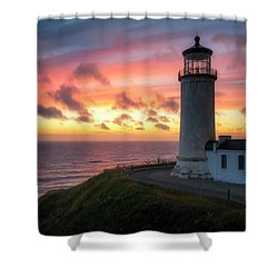 Shower Curtain featuring the photograph Lasting Light by Ryan Manuel