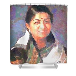 Lata Mangeshkar  Shower Curtain