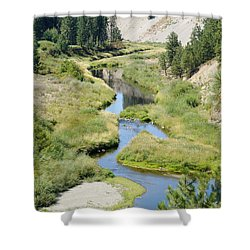 Shower Curtain featuring the photograph Latah Creek by Ben Upham III