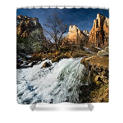 Late Afternoon At The Court Of The Patriarchs Shower Curtain by Christopher Holmes