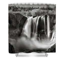 Shower Curtain featuring the photograph Late Afternoon At The High Falls by Rikk Flohr