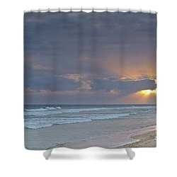Late Afternoon In Ilha Deserta. Algarve Shower Curtain