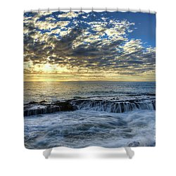 Late Afternoon In Laguna Beach Shower Curtain by Eddie Yerkish