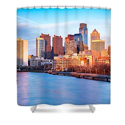 Late Afternoon In Philadelphia Shower Curtain