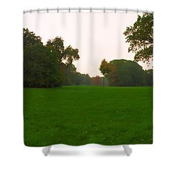 Late Afternoon In The Park Shower Curtain