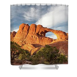 Late Afternoon Light On Skyline Arch Shower Curtain