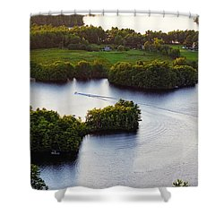 Late Afternoon On Lake Megunticook, Camden, Maine -43988 Shower Curtain