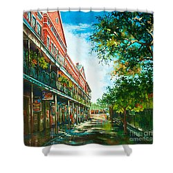 Late Afternoon On The Square Shower Curtain