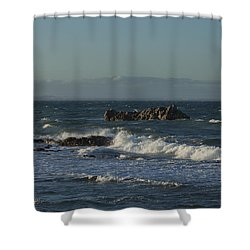 Late Afternoon Waves Shower Curtain