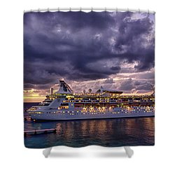 Late Arrival In Cozumel Shower Curtain