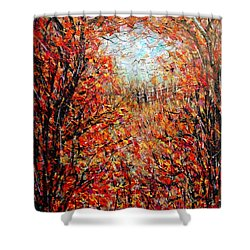 Late Autumn Shower Curtain by Natalie Holland