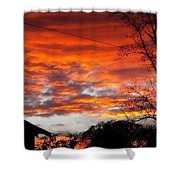 Late Autumn Sunset Shower Curtain