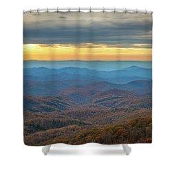 Late Autumn Vista Shower Curtain