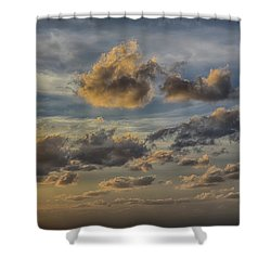 Shower Curtain featuring the photograph Late Day Clouds On The Prisendam by John Haldane