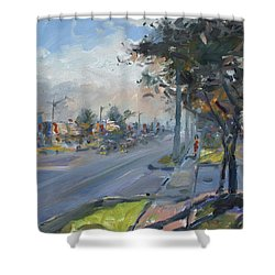 Late Evening In Guelph Street Georgetown Shower Curtain