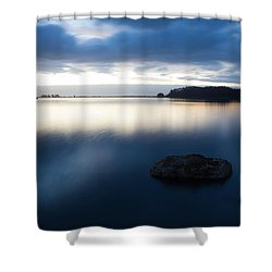 Late Evening On The Hikshari Shower Curtain by Mark Alder