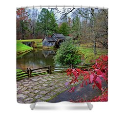 Late Fall At Mabry Mill Shower Curtain