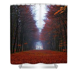 Late Fall Forest Shower Curtain