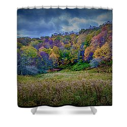 Late Fall On Green Knob Trail Shower Curtain