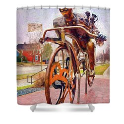 Late For A Date Shower Curtain by Trey Foerster