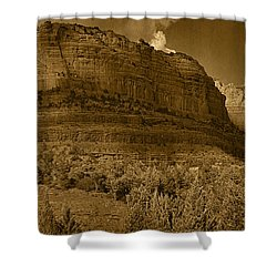 Late Light At Brin's Mesa Tnt Pano Shower Curtain
