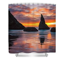 Late Night Cloud Dance Shower Curtain by Darren White