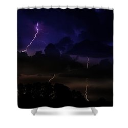 Late Night Encounter Shower Curtain