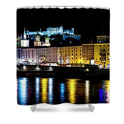 Shower Curtain featuring the photograph Late Night Stroll In Salzburg by David Morefield