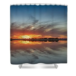 Shower Curtain featuring the digital art Late November Reflections by Phil Mancuso