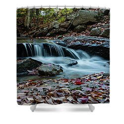 Late October Morning At Coxing Kill Shower Curtain