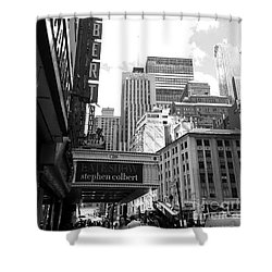Late Show Nyc Shower Curtain by Shelley Overton