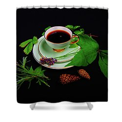 Late Summer Coffee Shower Curtain