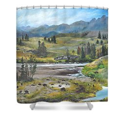 Late Summer In Yellowstone Shower Curtain