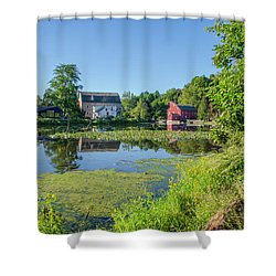 Late Summer - The Red Mill  On The Raritan River - Clinton New J Shower Curtain by Bill Cannon
