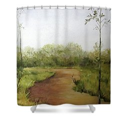 Late Summer Walk Shower Curtain