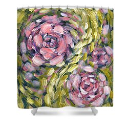 Shower Curtain featuring the digital art Late Summer Whirl by Holly Carmichael