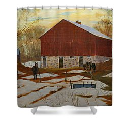 Late Winter At The Farm Shower Curtain