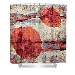 Latent Connections Shower Curtain