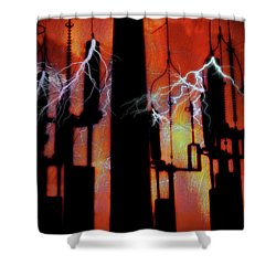 Latent Voltage Shower Curtain
