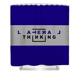 Lateral Thinking Shower Curtain by Mal Bray