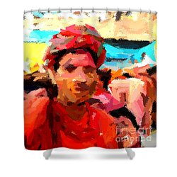 Lathmaar Holi Of Barsana-1 Shower Curtain