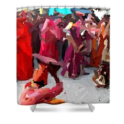 Lathmaar Holi Of Barsana-2 Shower Curtain