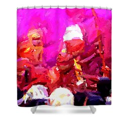Lathmaar Holi Of Barsana-3 Shower Curtain