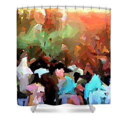 Lathmaar Holi Of Barsana-4 Shower Curtain