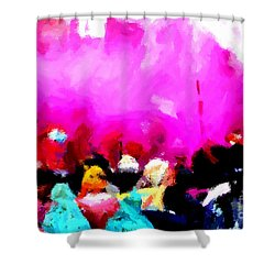 Lathmaar Holi Of Barsana-5 Shower Curtain
