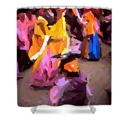 Lathmaar Holi Of Barsana-6 Shower Curtain
