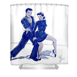 Latin Ballroom Shower Curtain