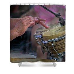 Latin Jazz Musician Shower Curtain