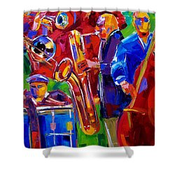 Latin Music Shower Curtain by Debra Hurd