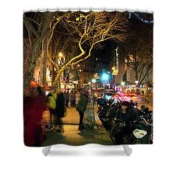 Latin Quarter Street Shower Curtain by John Rizzuto